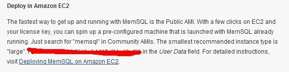 memsql 可以装 amazon云上